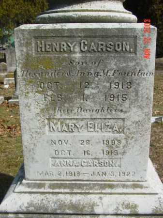FOUNTAIN, HENRY CARSON - Talbot County, Maryland | HENRY CARSON FOUNTAIN - Maryland Gravestone Photos
