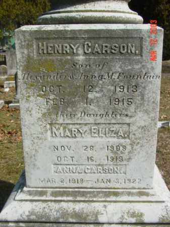 FOUNTAIN, HENRY CARSON - Talbot County, Maryland | HENRY CARSON FOUNTAIN - Maryland Gravestone Photos