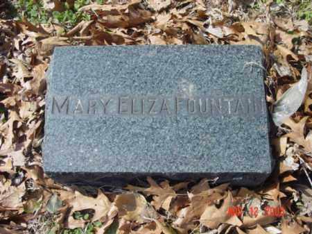 FOUNTAIN, MARY ELIZA - Talbot County, Maryland   MARY ELIZA FOUNTAIN - Maryland Gravestone Photos