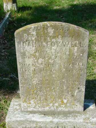 FOXWELL, NOAH - Talbot County, Maryland   NOAH FOXWELL - Maryland Gravestone Photos