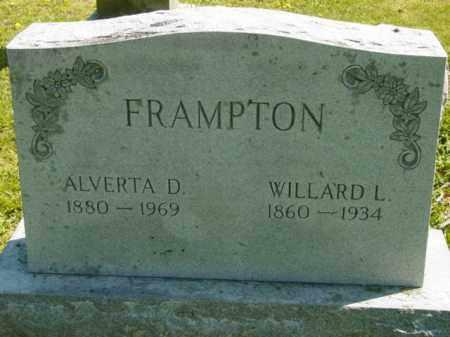 FRAMPTON, ALVERTA D. - Talbot County, Maryland | ALVERTA D. FRAMPTON - Maryland Gravestone Photos