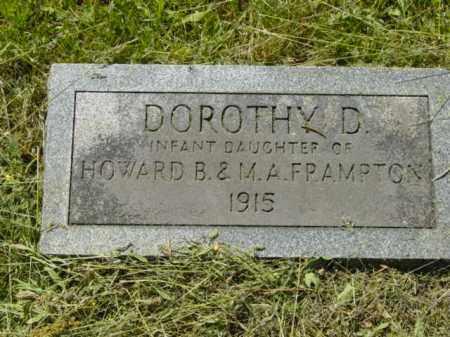 FRAMPTON, DOROTHY D. - Talbot County, Maryland | DOROTHY D. FRAMPTON - Maryland Gravestone Photos