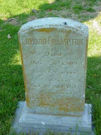 FRAMPTON, EDWARD - Talbot County, Maryland | EDWARD FRAMPTON - Maryland Gravestone Photos