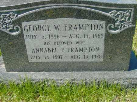 FRAMPTON, ANNABEL F. - Talbot County, Maryland | ANNABEL F. FRAMPTON - Maryland Gravestone Photos