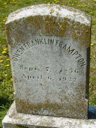 FRAMPTON, OWEN FRANKLIN - Talbot County, Maryland | OWEN FRANKLIN FRAMPTON - Maryland Gravestone Photos