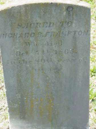 FRAMPTON, RICHARD R. - Talbot County, Maryland | RICHARD R. FRAMPTON - Maryland Gravestone Photos