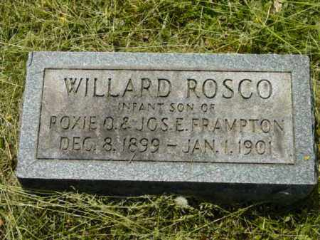 FRAMPTON, WILLARD ROSCO - Talbot County, Maryland | WILLARD ROSCO FRAMPTON - Maryland Gravestone Photos