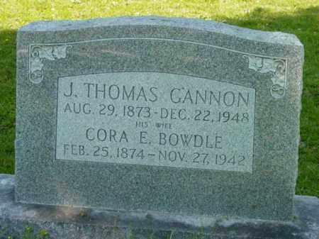 BOWDLE GANNON, CORA E. - Talbot County, Maryland | CORA E. BOWDLE GANNON - Maryland Gravestone Photos