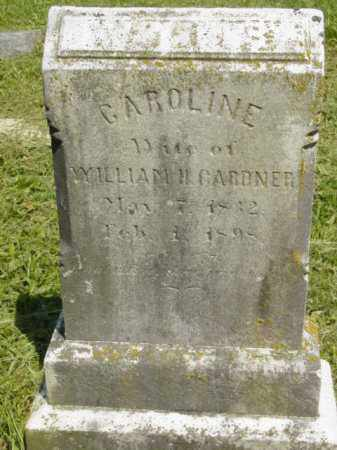 GARDNER, CAROLINE - Talbot County, Maryland   CAROLINE GARDNER - Maryland Gravestone Photos