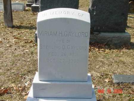 GAYLORD, MIRIAM H. - Talbot County, Maryland   MIRIAM H. GAYLORD - Maryland Gravestone Photos