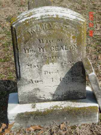 GEALON, MARY F. - Talbot County, Maryland | MARY F. GEALON - Maryland Gravestone Photos