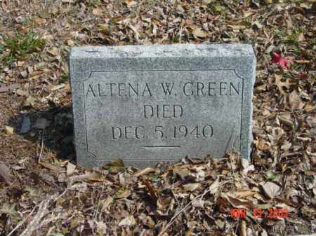 GREEN, ALTENA W. - Talbot County, Maryland | ALTENA W. GREEN - Maryland Gravestone Photos