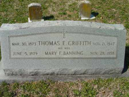 BANNING GRIFFITH, MARY F. - Talbot County, Maryland | MARY F. BANNING GRIFFITH - Maryland Gravestone Photos