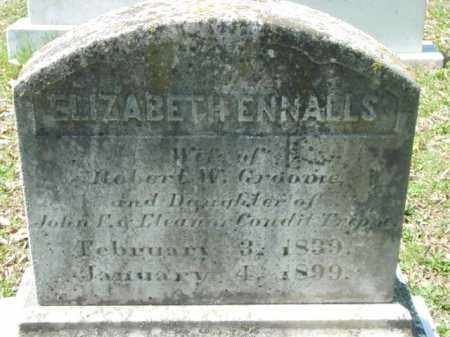 GROOME, ELIZABETH ENNALLS - Talbot County, Maryland | ELIZABETH ENNALLS GROOME - Maryland Gravestone Photos