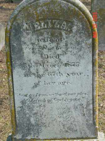 GROOME, ELIZA - Talbot County, Maryland | ELIZA GROOME - Maryland Gravestone Photos