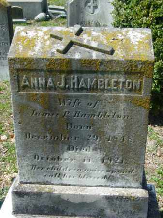 HAMBLETON, ANNA J. - Talbot County, Maryland | ANNA J. HAMBLETON - Maryland Gravestone Photos