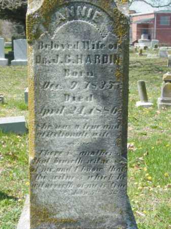 HARDIN, ANNIE - Talbot County, Maryland   ANNIE HARDIN - Maryland Gravestone Photos
