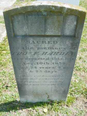 HARDIN, THOMAS F. - Talbot County, Maryland | THOMAS F. HARDIN - Maryland Gravestone Photos