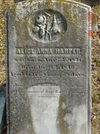 HARPER, ALICE ANNA - Talbot County, Maryland | ALICE ANNA HARPER - Maryland Gravestone Photos
