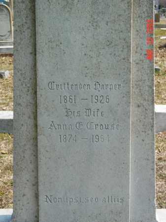 HARPER, CRITTENDEN - Talbot County, Maryland   CRITTENDEN HARPER - Maryland Gravestone Photos