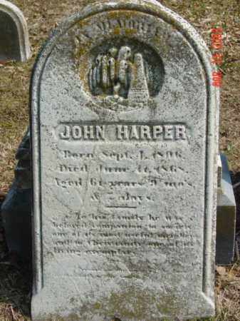 HARPER, JOHN - Talbot County, Maryland | JOHN HARPER - Maryland Gravestone Photos