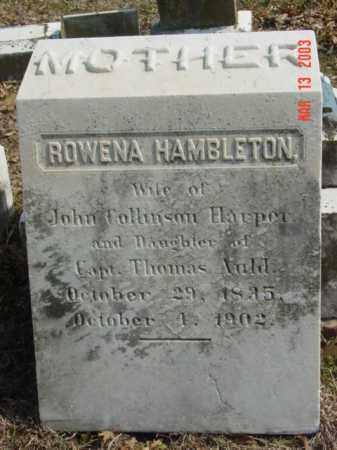 HARPER, ROWENA HAMBLETON - Talbot County, Maryland | ROWENA HAMBLETON HARPER - Maryland Gravestone Photos