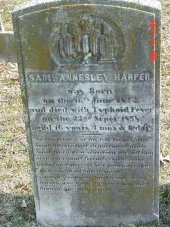 HARPER, SAM ANNESLEY - Talbot County, Maryland | SAM ANNESLEY HARPER - Maryland Gravestone Photos