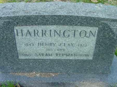 HARRINGTON, HENRY CLAY - Talbot County, Maryland | HENRY CLAY HARRINGTON - Maryland Gravestone Photos