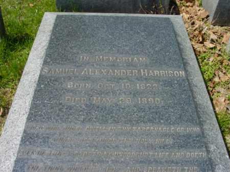 HARRISON, SAMUEL ALEXANDER - Talbot County, Maryland | SAMUEL ALEXANDER HARRISON - Maryland Gravestone Photos