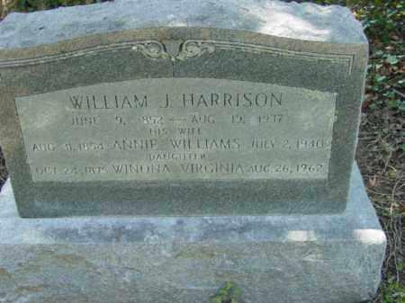 WILLIAMS HARRISON, ANNIE - Talbot County, Maryland | ANNIE WILLIAMS HARRISON - Maryland Gravestone Photos