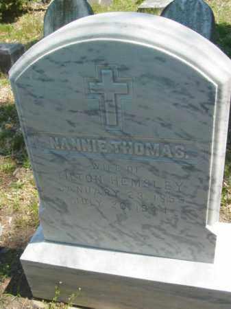 HEMSLEY, NANNIE - Talbot County, Maryland | NANNIE HEMSLEY - Maryland Gravestone Photos