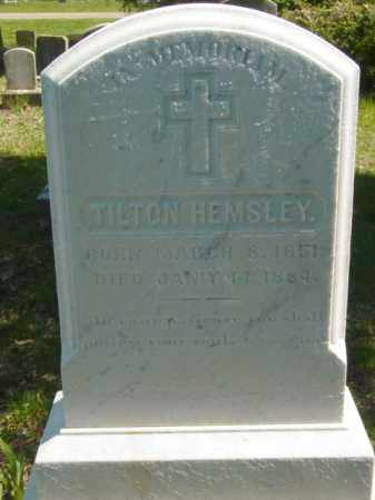HEMSLEY, TILTON - Talbot County, Maryland | TILTON HEMSLEY - Maryland Gravestone Photos