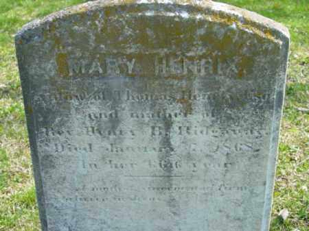 HENRIX, MARY - Talbot County, Maryland | MARY HENRIX - Maryland Gravestone Photos