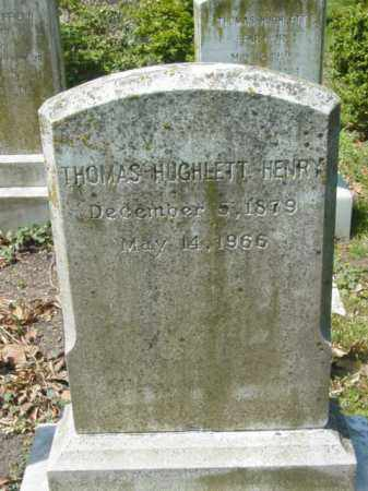 HENRY, THOMAS HUGHLETT - Talbot County, Maryland | THOMAS HUGHLETT HENRY - Maryland Gravestone Photos