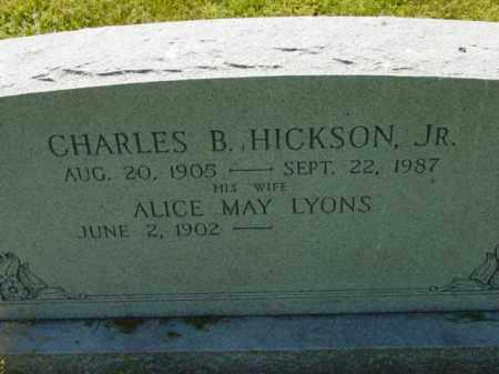 LYONS HICKSON, ALICE MAY - Talbot County, Maryland | ALICE MAY LYONS HICKSON - Maryland Gravestone Photos