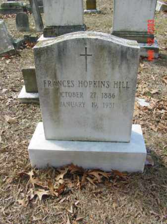 HILL, FRANCES HOPKINS - Talbot County, Maryland | FRANCES HOPKINS HILL - Maryland Gravestone Photos