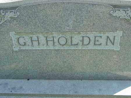 HOLDEN, G.H. - Talbot County, Maryland | G.H. HOLDEN - Maryland Gravestone Photos