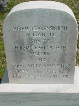 HOLDEN JR., HIRAM LEAVENWORTH - Talbot County, Maryland | HIRAM LEAVENWORTH HOLDEN JR. - Maryland Gravestone Photos