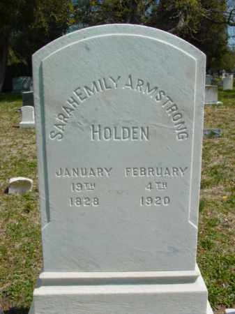 HOLDEN, SARAH EMILY - Talbot County, Maryland   SARAH EMILY HOLDEN - Maryland Gravestone Photos