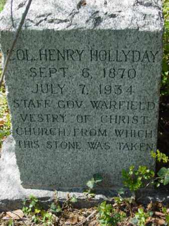 HOLLYDAY, COL. HENRY - Talbot County, Maryland | COL. HENRY HOLLYDAY - Maryland Gravestone Photos