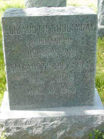 HOLLYDAY, ELIZABETH T. - Talbot County, Maryland   ELIZABETH T. HOLLYDAY - Maryland Gravestone Photos