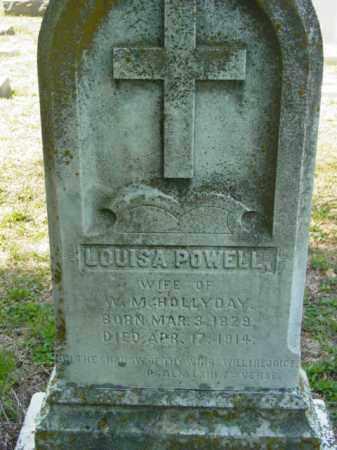 POWELL HOLLYDAY, LOUISA - Talbot County, Maryland | LOUISA POWELL HOLLYDAY - Maryland Gravestone Photos