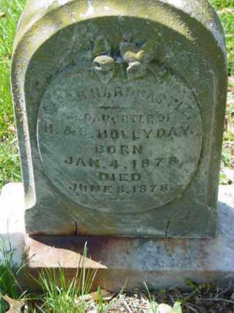 HOLLYDAY, SARAH HARDCASTLE - Talbot County, Maryland | SARAH HARDCASTLE HOLLYDAY - Maryland Gravestone Photos