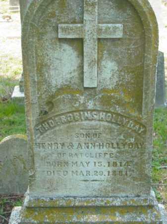 HOLLYDAY, THOMAS ROBINS - Talbot County, Maryland   THOMAS ROBINS HOLLYDAY - Maryland Gravestone Photos