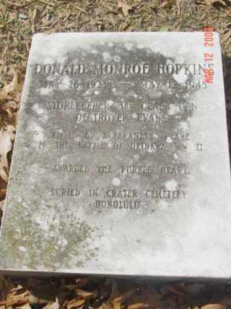 HOPKINS, DONALD MONROE - Talbot County, Maryland | DONALD MONROE HOPKINS - Maryland Gravestone Photos