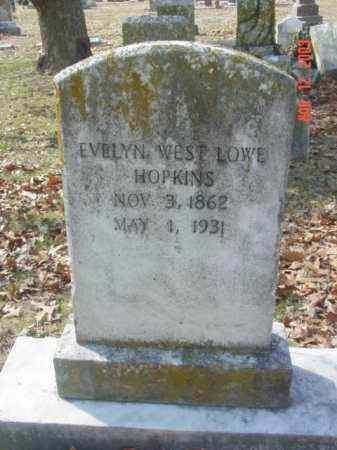 HOPKINS, EVELYN WEST LOWE - Talbot County, Maryland | EVELYN WEST LOWE HOPKINS - Maryland Gravestone Photos