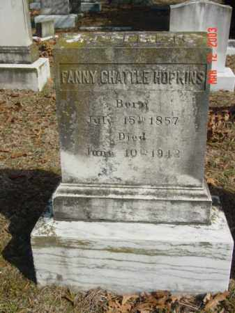 HOPKINS, FANNY CHATTLE - Talbot County, Maryland   FANNY CHATTLE HOPKINS - Maryland Gravestone Photos