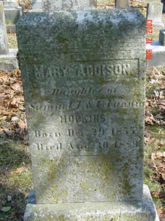 HOPKINS, MARY ADDISON - Talbot County, Maryland | MARY ADDISON HOPKINS - Maryland Gravestone Photos