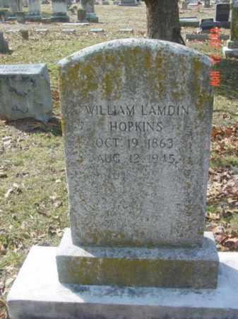 HOPKINS, WILLIAM LAMDIN - Talbot County, Maryland | WILLIAM LAMDIN HOPKINS - Maryland Gravestone Photos
