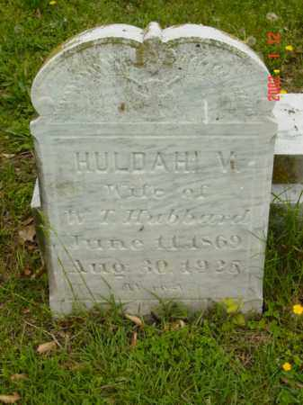 HUBBARD, HULDAH V. - Talbot County, Maryland | HULDAH V. HUBBARD - Maryland Gravestone Photos